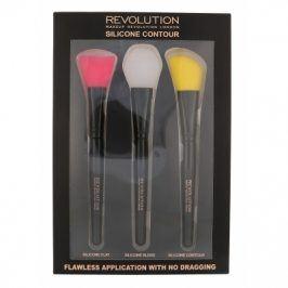 Makeup Revolution London Brushes 1 ks dárková kazeta dárková sada pro ženy plochý štětec 1 ks + blendovací štětec 1 ks + štětec pro konturování 1 ks