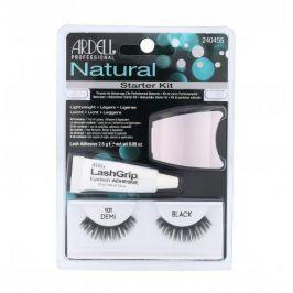 Ardell Natural Demi 101 dárková kazeta pro ženy umělé řasy 1 pár + lepidlo na řasy LashGrip 2,5 g + aplikátor 1 ks Black