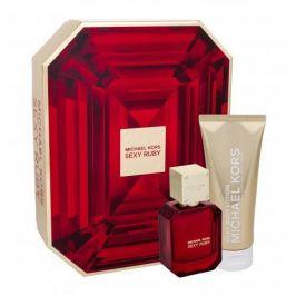 Michael Kors Sexy Ruby 50 ml dárková kazeta dárková sada pro ženy parfémovaná voda 50 ml + tělové mléko 100 ml