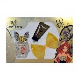 Winx Fairy Couture Bloom 100 ml dárková kazeta dárková sada pro ženy toaletní voda 100 ml + tělové mléko 75 ml + spona do vlasů