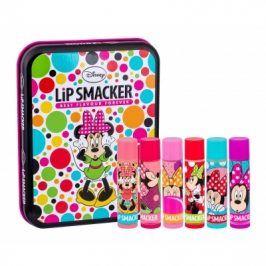 Lip Smacker Disney Minnie Mouse 4 g dárková kazeta dárková sada balzám na rty 6 x 4 g + plechová krabička