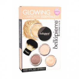 bellápierre Glowing Complexion Essentials 8,5 g dárková kazeta dárková sada pro ženy báze pod make-up 8,5 g + minerální pudrový make-up SPF15 4 g Cinnamon + bronzer 2 g + minerální rozjasňovač 2 g + kabuki štětec 1 ks 2 Medium