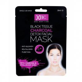 Xpel Body Care Black Tissue Charcoal Detox Facial Mask 28 ml pleťová maska pro ženy