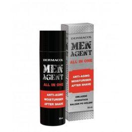 Dermacol Men Agent Anti-Aging Moisturiser After Shave All In One 50 ml hydratační gel-krém proti vráskám pro muže