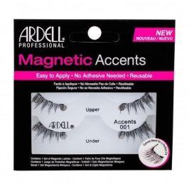 Ardell Magnetic Accents Accents 001 1 ks magnetické řasy pro ženy Black