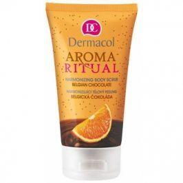 Dermacol Aroma Ritual Belgian Chocolate 150 ml harmonizující tělový peeling pro ženy