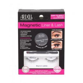 Ardell Magnetic Liner & Lash 110 dárková kazeta pro ženy magnetické řasy 110 1 pár + magnetická gelová linka 2 g Black + štěteček na linku 1 ks Black