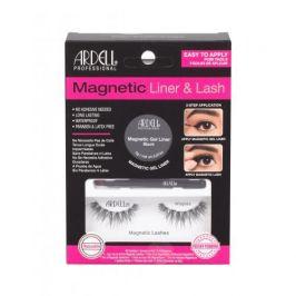 Ardell Magnetic Liner & Lash Wispies dárková kazeta pro ženy magnetické řasy Wispies 1 pár + magnetická gelová linka 2 g Black + štěteček na linku 1 ks Black