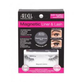Ardell Magnetic Liner & Lash Accent 002 dárková kazeta pro ženy magnetické řasy Accent 002 1 pár + magnetická gelová linka 2 g Black + štěteček na linku 1 ks Black