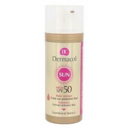 Dermacol Sun SPF50 50 ml voděodolný tónovací ochranný fluid pro ženy