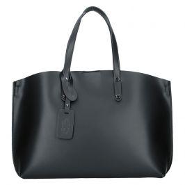 Dámská kožená kabelka Vera Pelle Lili - černá