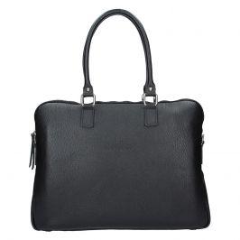 Dámská kožená taška na notebook Facebag Milanos - černá