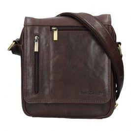 Pánská kožená taška přes rameno SendiDesign Morven - hnědá