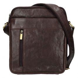 Panská kožená taška přes rameno SendiDesign Kolin - hnědá