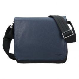Pánská kožená taška přes rameno Hexagona Leopold - modro-černá