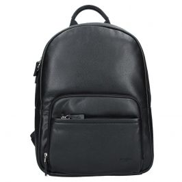 Pánský kožený batoh Hexagona Lion - černá