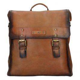 Pánský kožený batoh Daag Boels - hnědá