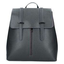 Dámský kožený batoh Delami Beathag - tmavě šedá