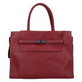Elegantní dámská kožená kabelka Katana Aurora - vínová