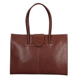 Dámská kožená kabelka Vera Pelle Sirela - hnědá