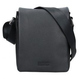 Pánská kožená taška přes rameno Lagen Dino - černá