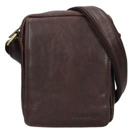 Pánská kožená taška přes rameno SendiDesign Danet - hnědá