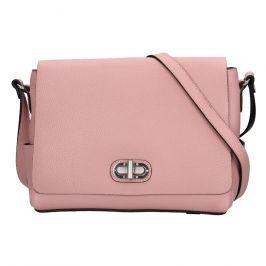 Kožená dámská crosbody kabelka Katana Eliana - růžová