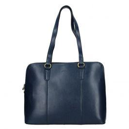 Elegantní dámská kožená kabelka Katana Apolens - modrá