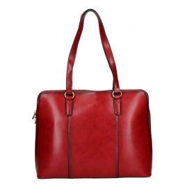 Elegantní dámská kožená kabelka Katana Apolens - červená