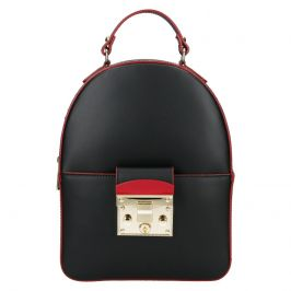 Jedinečný kožený dámský batoh Unidax Erica - černá
