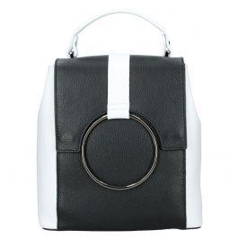 Dámský kožený batoh Vera Pelle Cecilie - černo-bílá