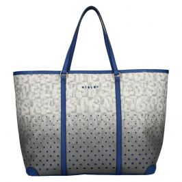 Dámská kabelka Sisley Radka - šedo-modrá