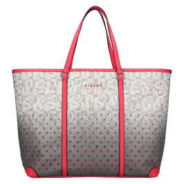 Dámská kabelka Sisley Radka - šedo-růžová