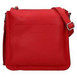 Trendy dámská kožená crossbody kabelka Facebag Miriana - červená