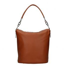 Dámská kožená kabelka Facebag Talma - koňak