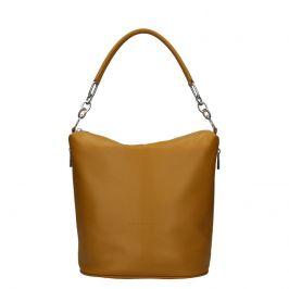 Dámská kožená kabelka Facebag Talma - světle hnědá