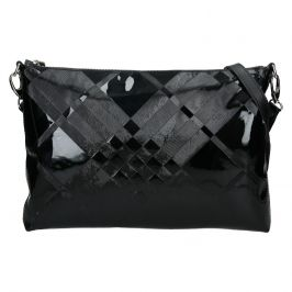 Dámská kožená vzorovaná crossbody kabelka Facebag Elesna - černá