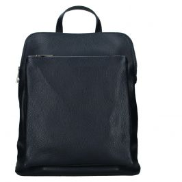 Kožený dámský batoh Unidax Marion - tmavě modrá