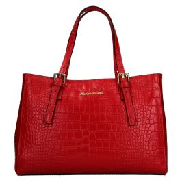 Dámská kožená kabelka Marina Galanti Federici - červená