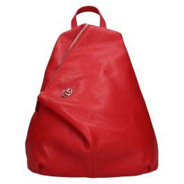 Dámský kožený batoh Marina Galanti Sofia - červená