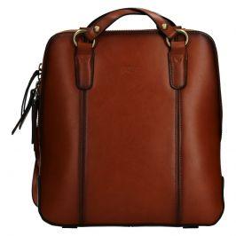 Dámská kožená batůžko kabelka Katana Martina - koňak