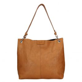 Dámská kožená kabelka Facebag Lilles - hnědá