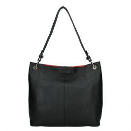 Dámská kožená kabelka Facebag Lilles - černá