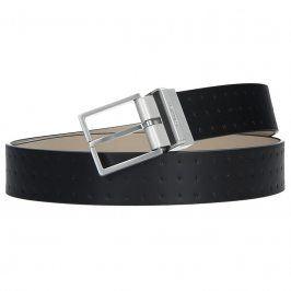 Hnědý kožený pánský opasek Calvin Klein Vitel