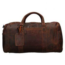 Kožená cestovní taška Greenwood Daniel - hnědá