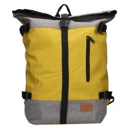 Velký trendy batoh New Rebels Marco - šedo-žlutá