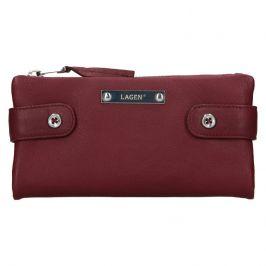 Dámská kožená peněženka Lagen Monica - vínová