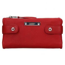 Dámská kožená peněženka Lagen Monica - červená