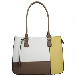 Dámská kabelka Hexagona 505239 - bílo-žlutá
