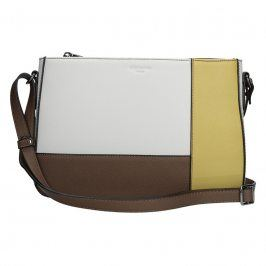 Dámská kabelka Hexagona 505238 - bílo-žlutá